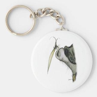 heron bird, tony fernandes basic round button key ring
