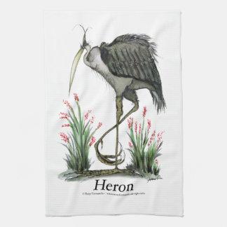 Heron bird, tony fernandes tea towel