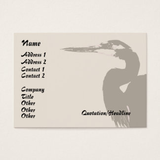 Heron Bird Wildlife Animals Wetlands Business Card