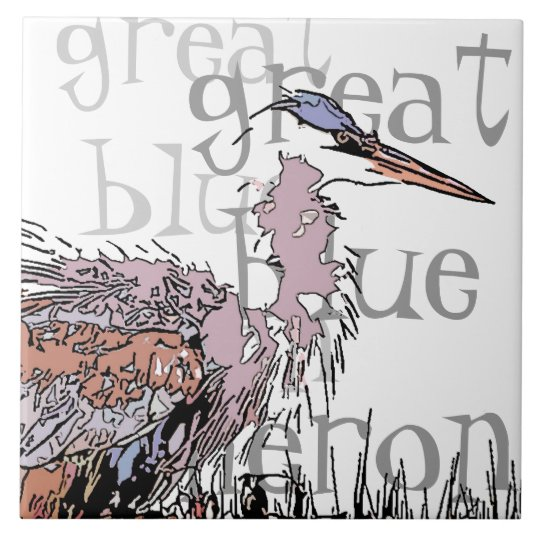 Heron Birds Wildlife Animals Tile