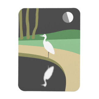 Heron By Moonlight Magnet