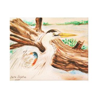 heron canvas canvas print