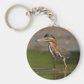 Heron Elvis Basic Round Button Key Ring