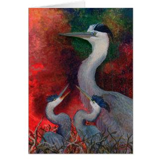 Heron Family Cards