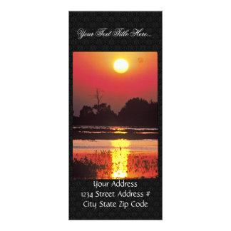 Heron in Sunset Rack Card