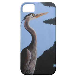 Heron in the Blue Case For The iPhone 5