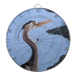 Heron in the Blue Dartboard