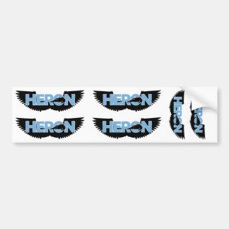 heron logo carolina blue bumper sticker