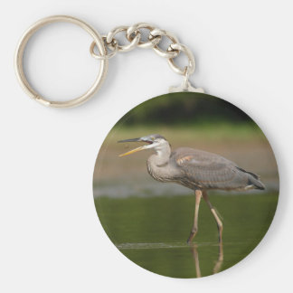 Heron lunchin basic round button key ring
