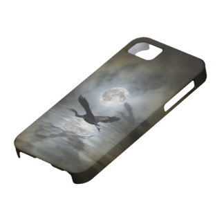 Heron Moon Fantasy iPhone Case