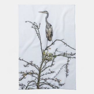 Heron on a tree kitchen towel