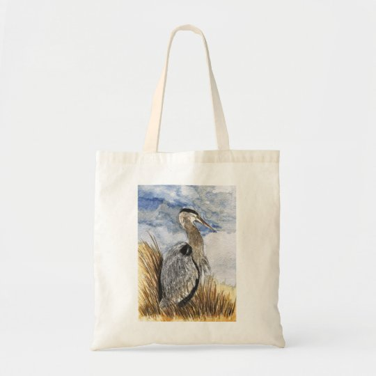 Heron on Assateague Island Tote Bag