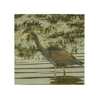 Heron on the Shores Wood Wall Art