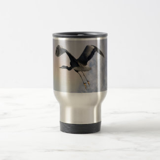 Heron, Rainbow & Waterfall Fantasy Art Mug