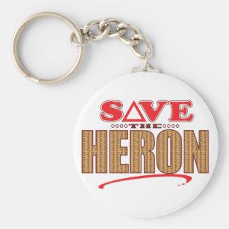 Heron Save Basic Round Button Key Ring