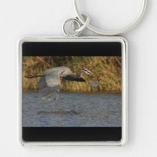 Heron with Fish Keychain
