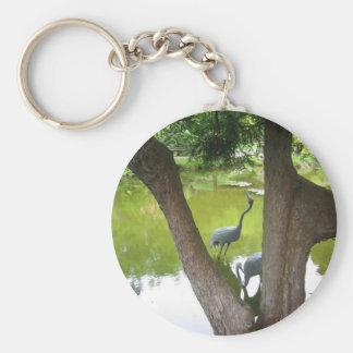 Herons Basic Round Button Key Ring