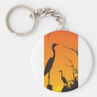 Herons resting design keychains