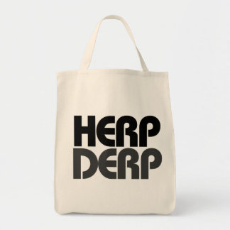 Herp Derp Grocery Tote Bag