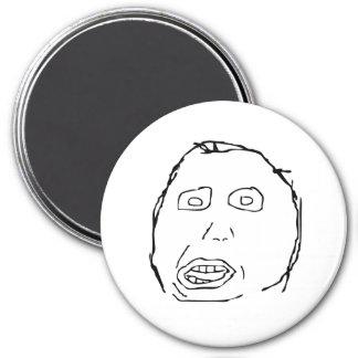 Herp Derp Idiot Rage Face Meme 7.5 Cm Round Magnet