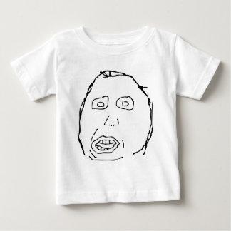 Herp Derp Idiot Rage Face Meme Baby T-Shirt