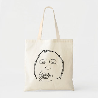 Herp Derp Idiot Rage Face Meme Tote Bag