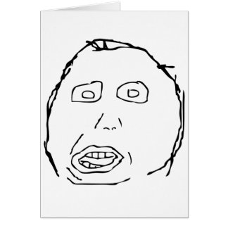 Herp Derp Idiot Rage Face Meme Greeting Card