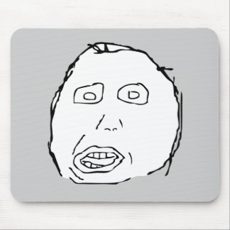 Herp Derp Idiot Rage Face Meme Mouse Pads