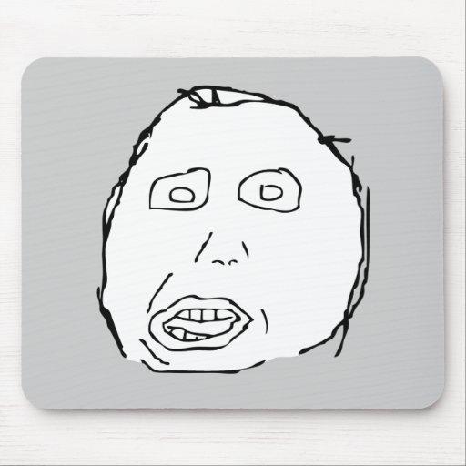 Herp Derp Idiot Rage Face Meme Mouse Pads