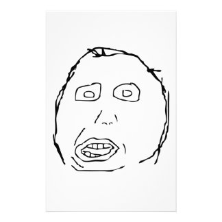 Herp Derp Idiot Rage Face Meme Personalised Stationery
