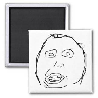 Herp Derp Idiot Rage Face Meme Square Magnet