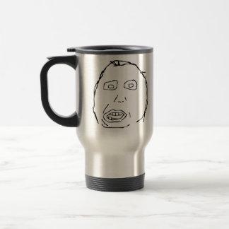Herp Derp Idiot Rage Face Meme Stainless Steel Travel Mug