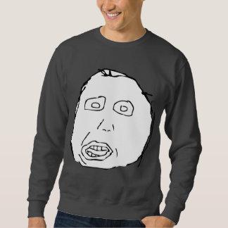 Herp Derp Idiot Rage Face Meme Sweatshirt
