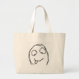 Herp Derp Rage Comic Canvas Bags