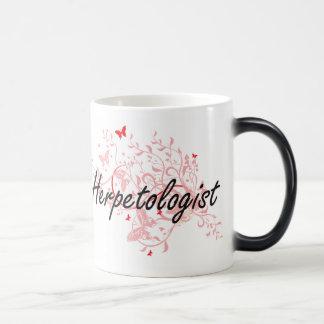 Herpetologist Artistic Job Design with Butterflies Morphing Mug