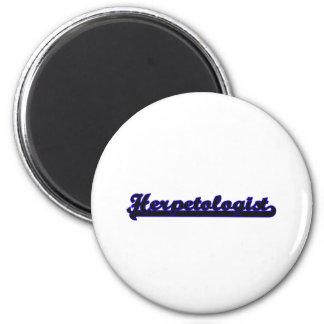 Herpetologist Classic Job Design 6 Cm Round Magnet