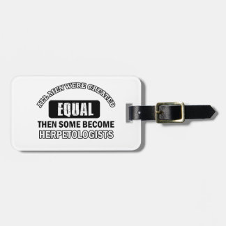 HERPETOLOGIST designs Luggage Tags