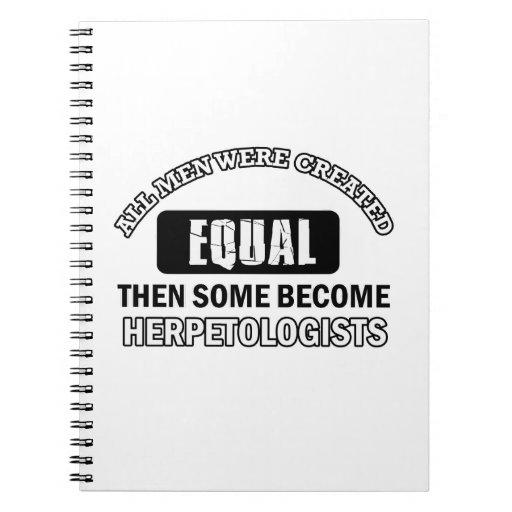 HERPETOLOGIST designs Note Books