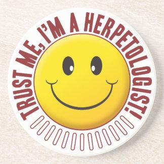 Herpetologist Trust Smiley Sandstone Coaster
