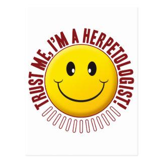 Herpetologist Trust Smiley Postcard