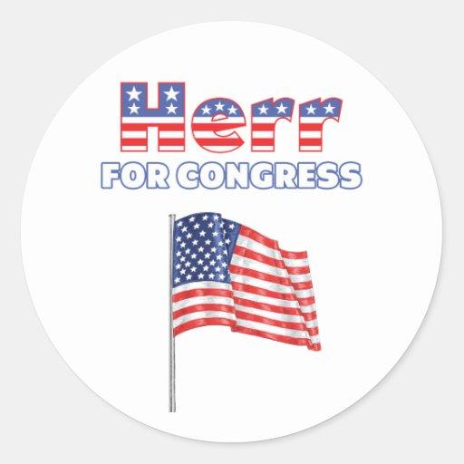 Herr for Congress Patriotic American Flag Sticker
