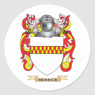 Herrick Coat of Arms (Family Crest) Round Stickers