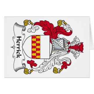 Herrick Family Crest Cards