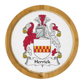 Herrick Family Crest Round Cheeseboard