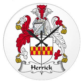 Herrick Family Crest Wall Clock