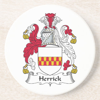 Herrick Family Crest Beverage Coasters