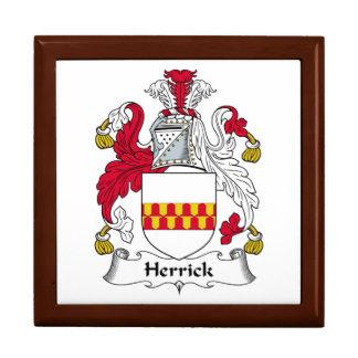 Herrick Family Crest Trinket Boxes