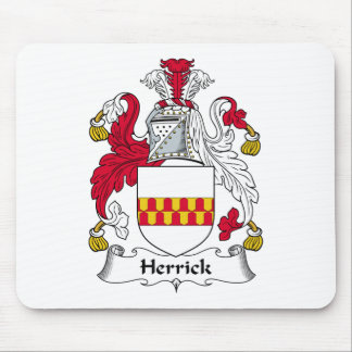 Herrick Family Crest Mouse Pad