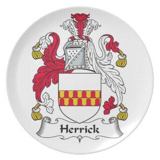 Herrick Family Crest Plates