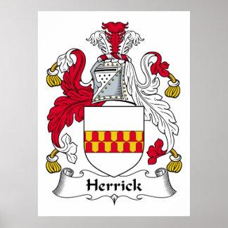 Herrick Family Crest Poster